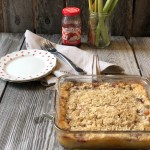 Strawberry Rhubarb Cheesecake Crisp