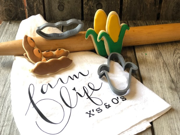 Cookie Cutter Sets from Farmwife Feeds are printed on a 3D printer from a corn by-product that is renewable source.