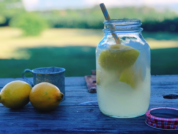 County Fair Lemonade Shake-Up from Farmwife Feeds is a simple fresh lemon drink that tastes like summer. #lemonade #fair #summerdrink