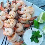 Lime Grilled Shrimp with Creamy Dipping Sauce