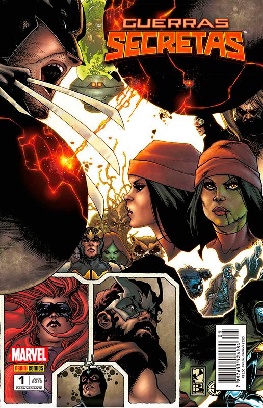 Capas alternativas da Panini Comics- Guerras Secretas