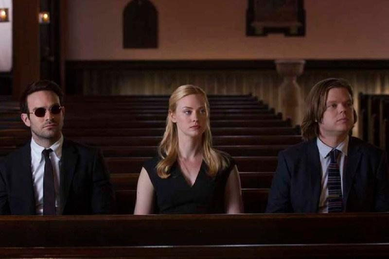 Matt, Karen e Foggy da segunda temporada de Demolidor série do Netflix