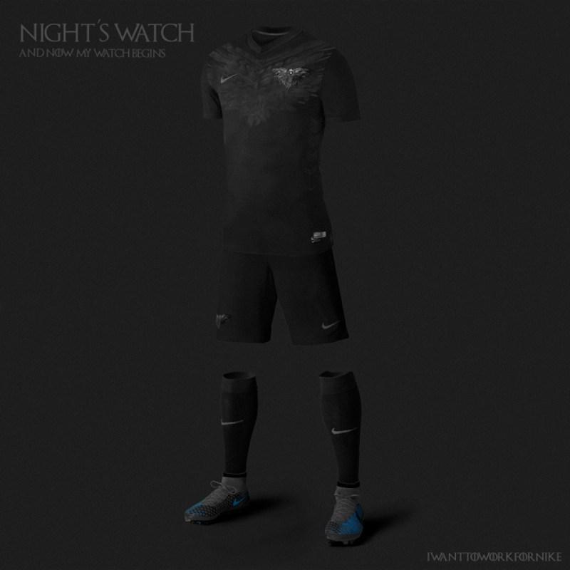 Uniformes de futebol de Game Of Thrones - Blog Farofeiros