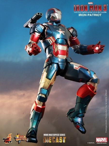 Homem de Ferro 3: 1/6th scale Iron Patriot da Hot Toys