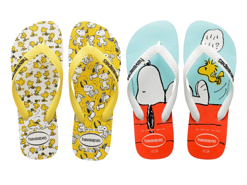 Chinelo do Snoopy e Charlie Brown - Havaianas - Blog Farofeiros