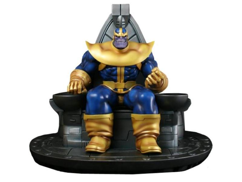 Thanos no trono da Bowen Designs