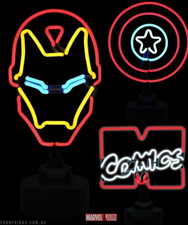 Homem de Ferro de neon