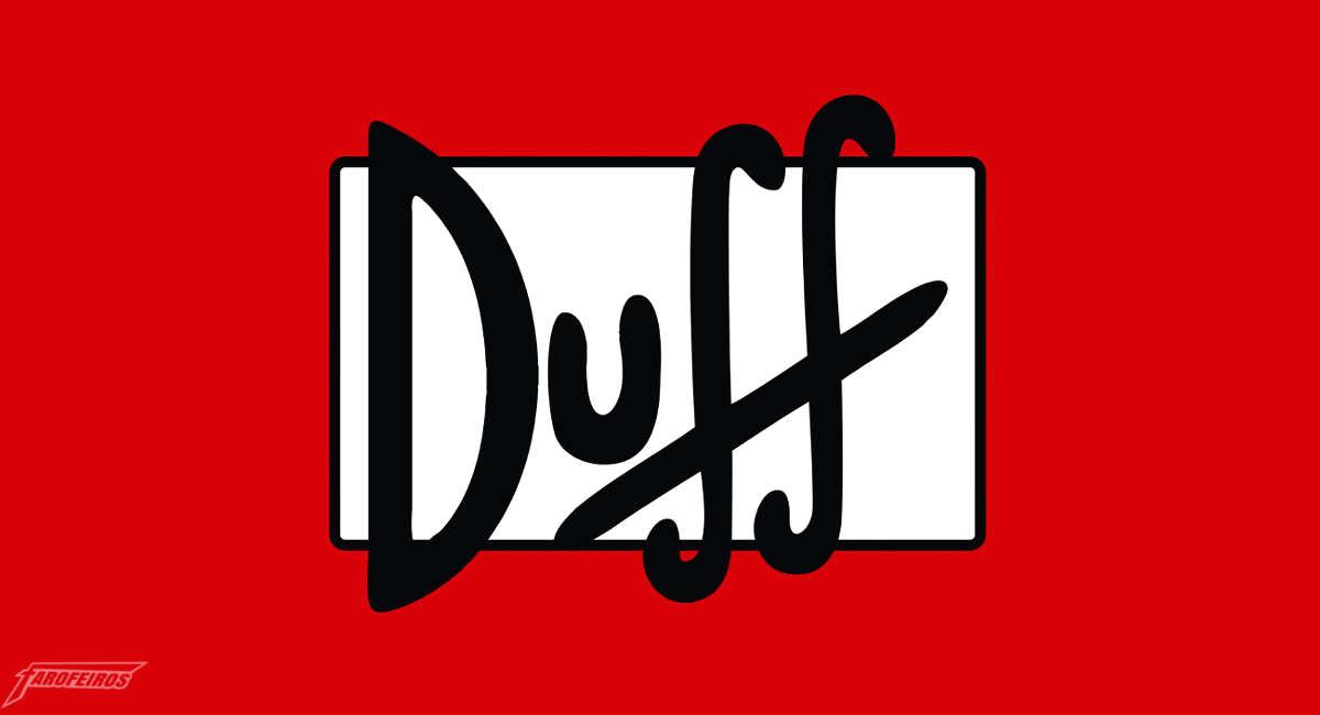 Logo Duff - Os Simpsons - Duff agora no Brasil