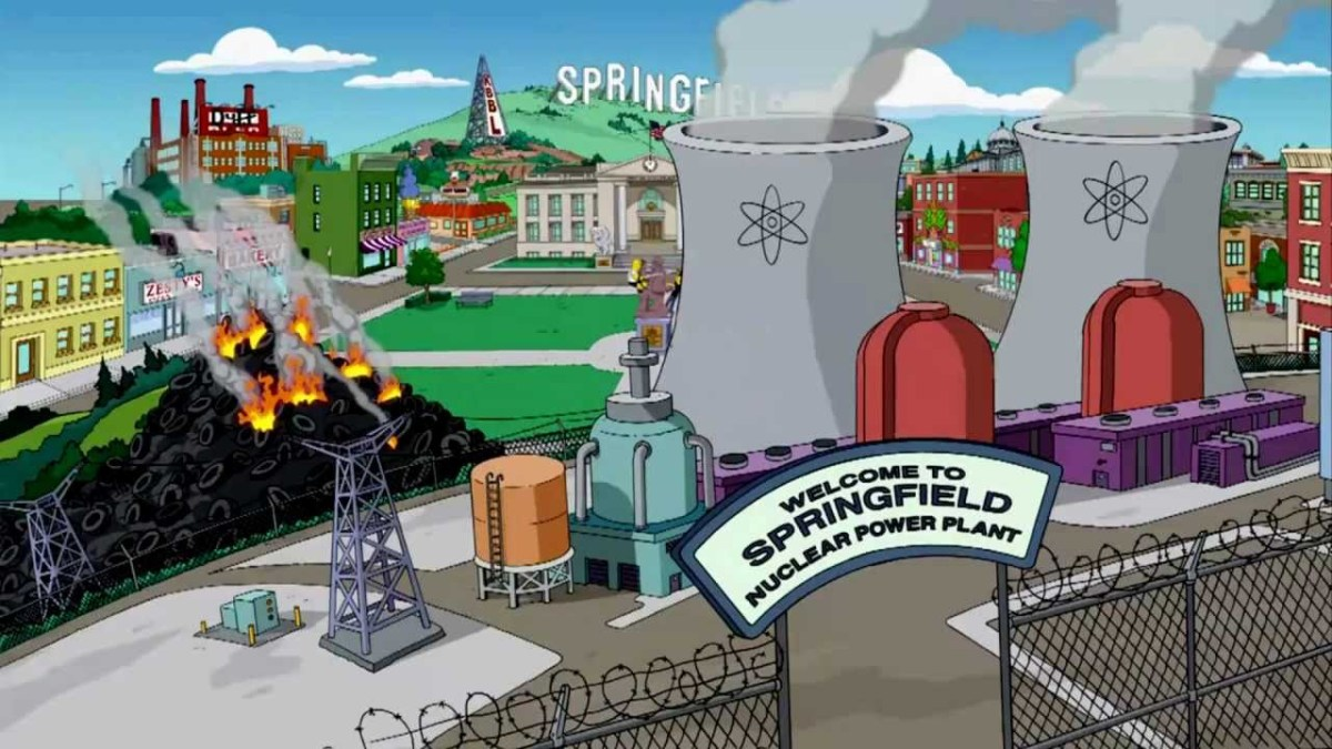 Mapa de Springfield de Os Simpsons