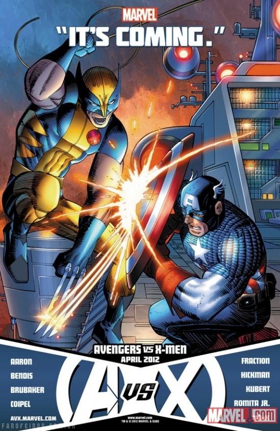Capas de Vingadores vs X-Men - VvX - AvX - Avengers vs X-Men - Blog Farofeiros
