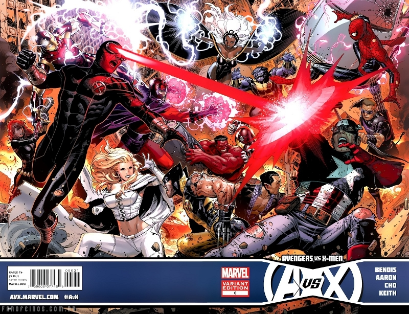 Vingadores Vs X-Men - Disney comprando a Fox - Vingadores vs X-Men - Avengers Vs X-Men #7 - Vingadores vs. X-Men
