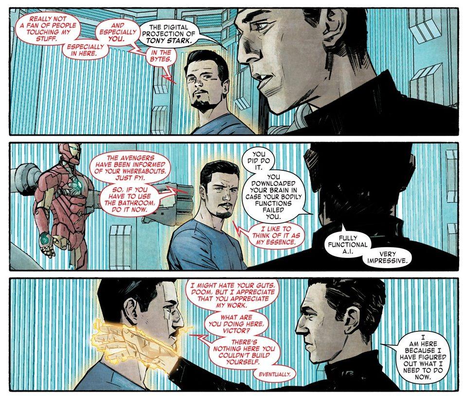 IA de Tony Stark com Victor Von Doom - Guerra Civil II: Tony Stark está morto?