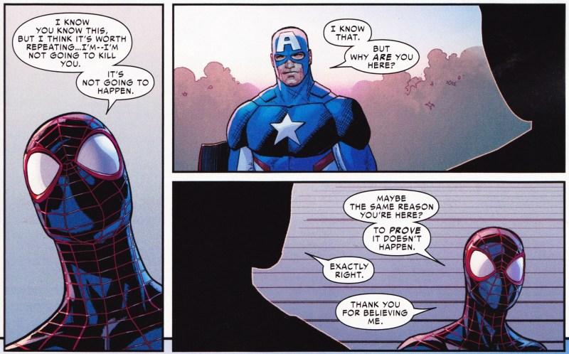 Capitão América e Miles Morales  - Guerra Civil II: Tony Stark está morto?