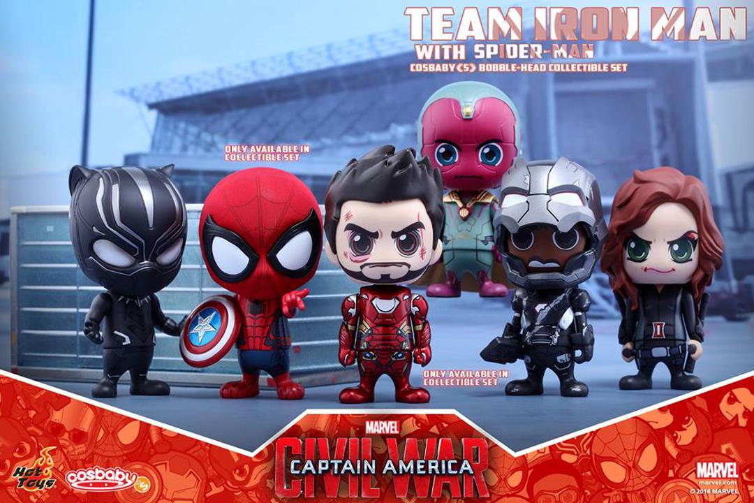 Capitão América: Guerra Civil em versão cosbaby pela Hot Toys