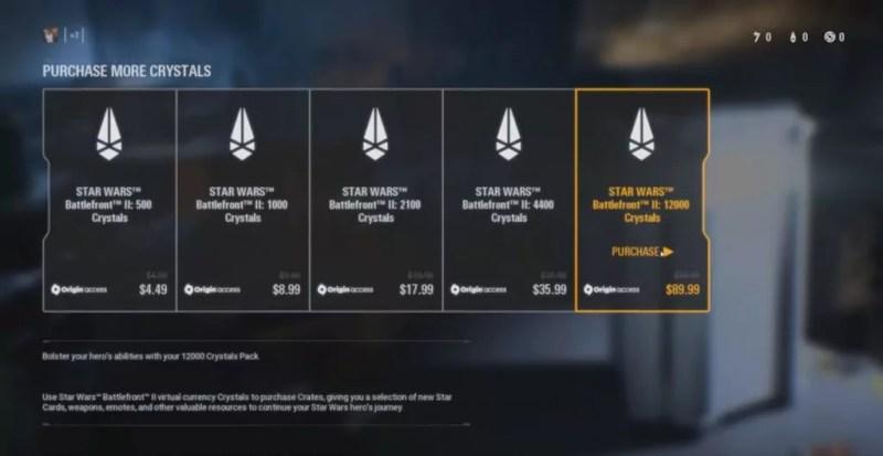 O que está acontecendo com Battlefront II - Eletronic Arts - Cristais a venda