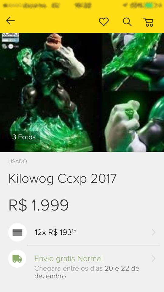 Exclusivos da Iron Studios da CCXP - Kilowog Mercado Livre - Blog Farofeiros