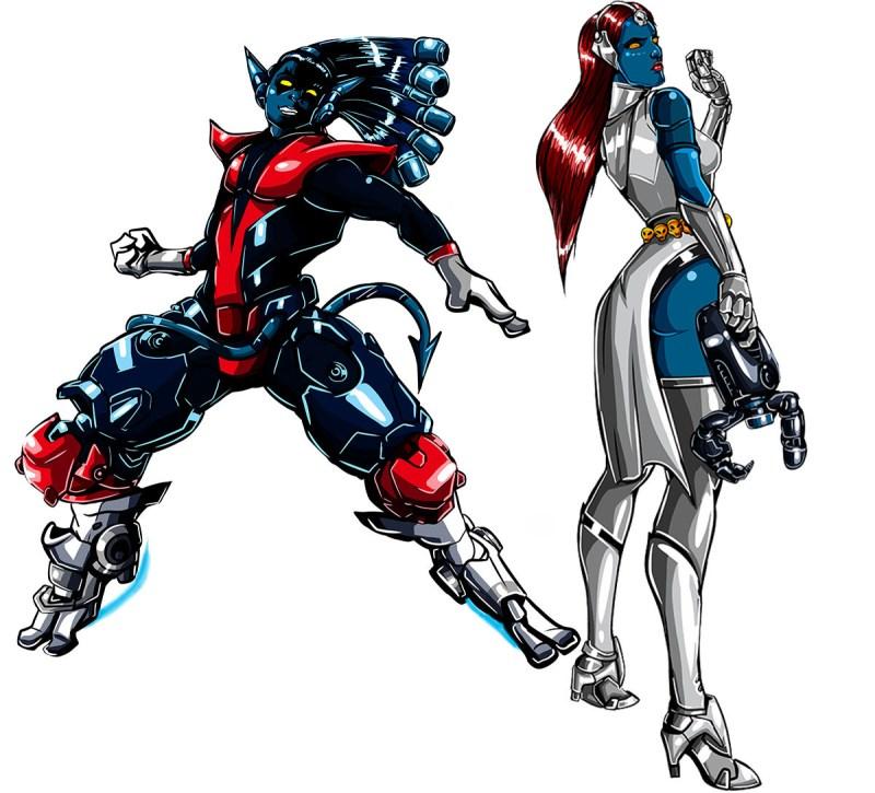 Overwatch com visuais dos X-Men - Lúcio e Symetra- Blog Farofeiros
