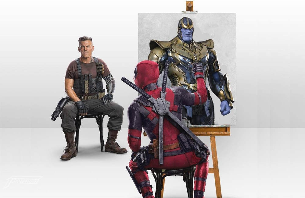 Deadpool pintando Cable do jeito certo