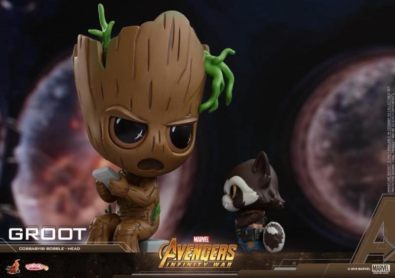 Cosbabys de Guerra Infinita - Rocket e Groot