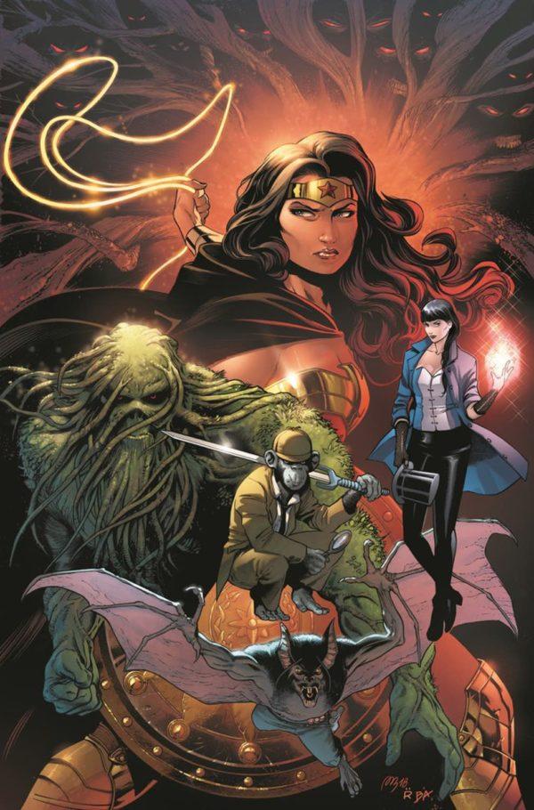Monstro do Pântano com a cara do Alan Moore - Justice League Dark