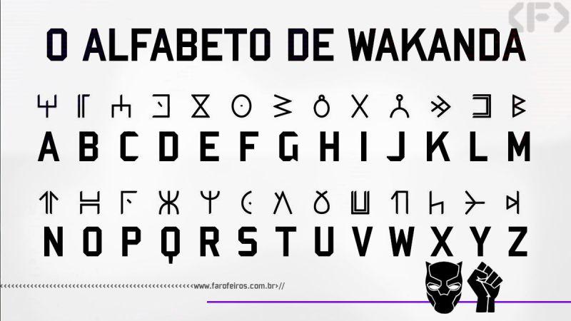Pantera Negra - Está na hora de você aprender a escrita de Wakanda - Blog Farofeiros