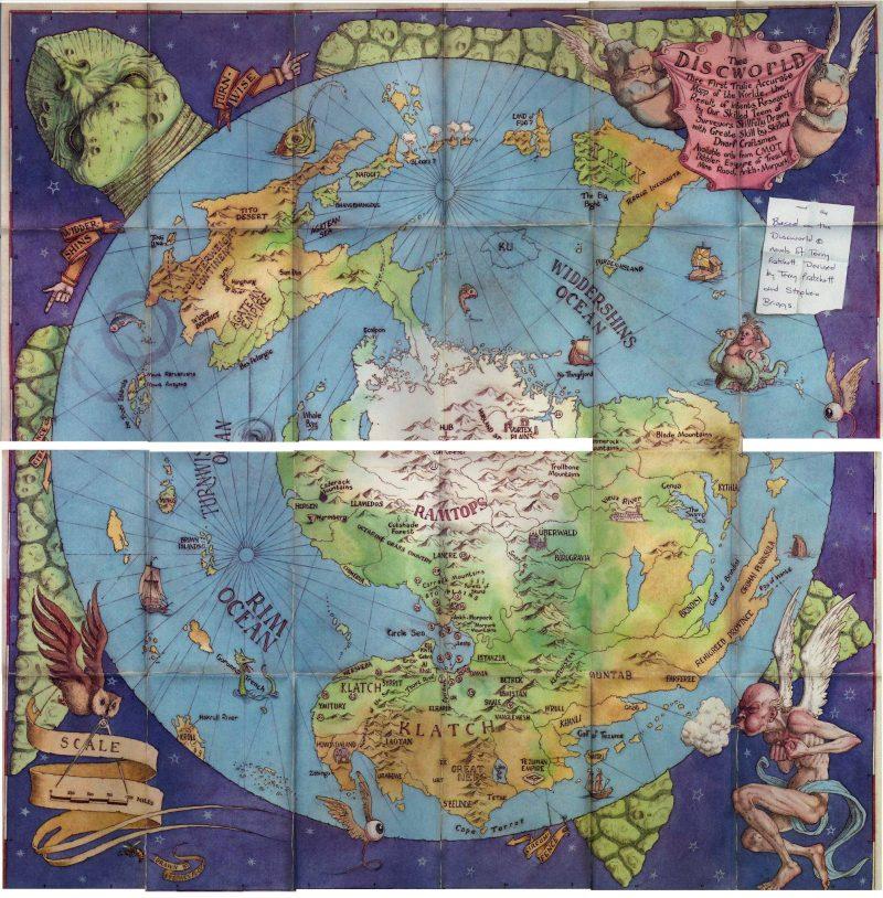Mapas de mundos da fantasia - Discworld