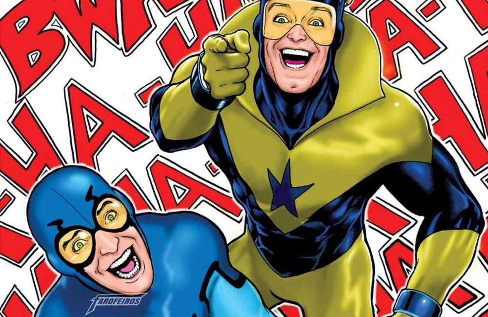 Besouro Azul e Guardião Dourado - Blue Beetle and Booster Gold - Sorriso na cara