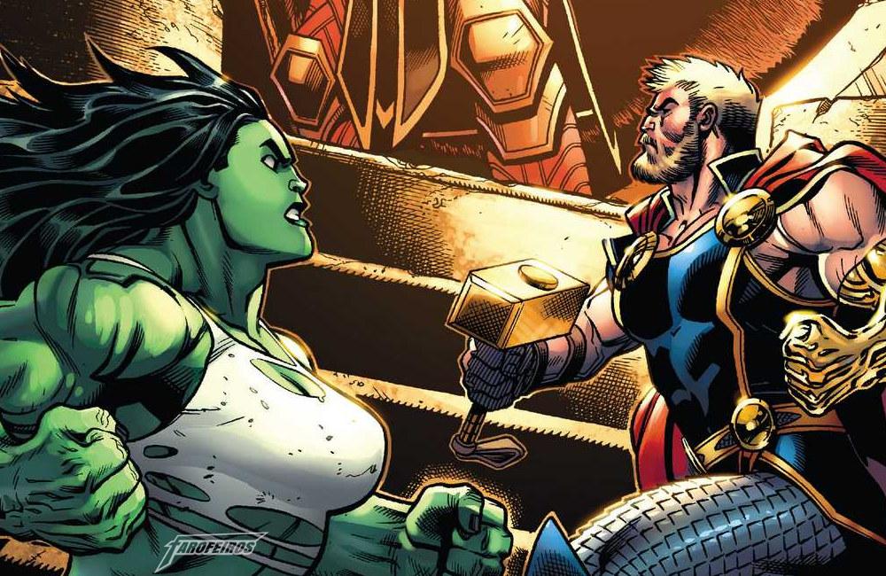 Quem é a vingadora mais quente - Avengers #4 - Mulher Hulk - Thor
