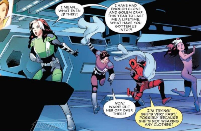 A filha do Professor Xavier - Vampira - Gambit - Deadpool - Xandra - Marvel Comics - Blog Farofeiros