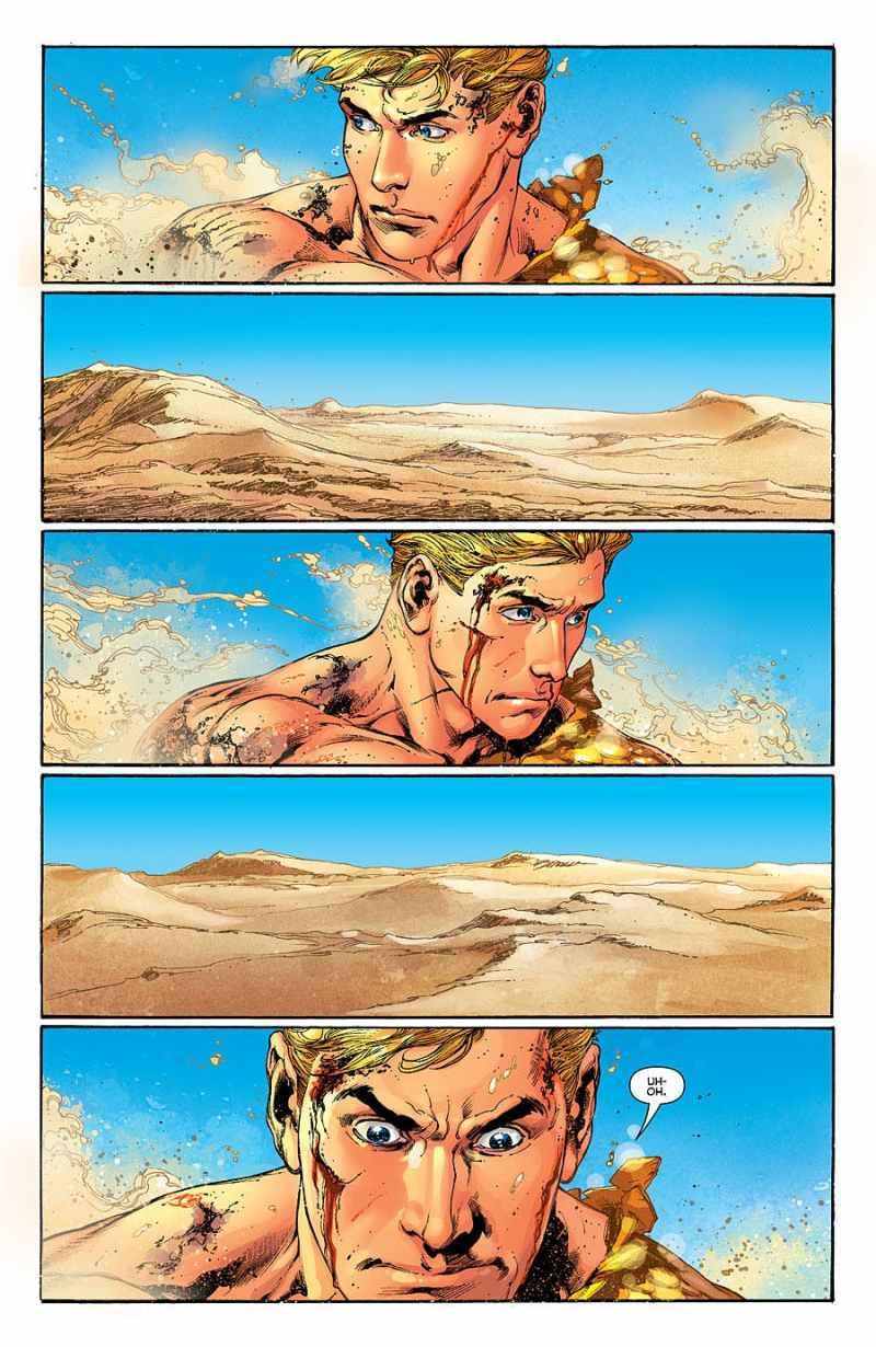 O que aconteceria se jogassem o Aquaman no meio do deserto? - Aquaman #5 Vol 7 2012 - Blog Farofeiros