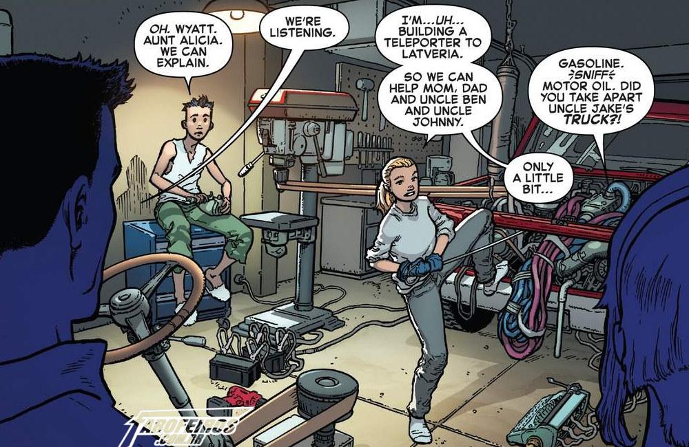 Fantastic Four #7 - Valéria Richards - Franklyn Richards - Quarteto Fantástico - Outra Semana nos Quadrinhos #7 - Blog Farofeiros