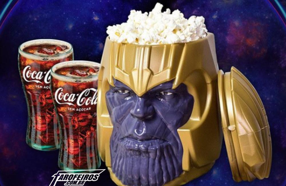 O maldito balde de pipoca de Vingadores - Ultimato - Cinépolis - Cabeça do Thanos - Blog Farofeiros
