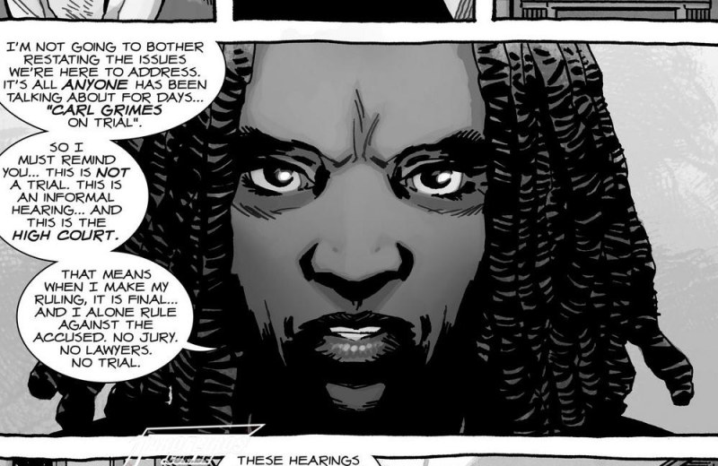 O fim de The Walking Dead - Blog Farofeiros - The Walking Dead #193 - Michonne - Juíza Hawthorne