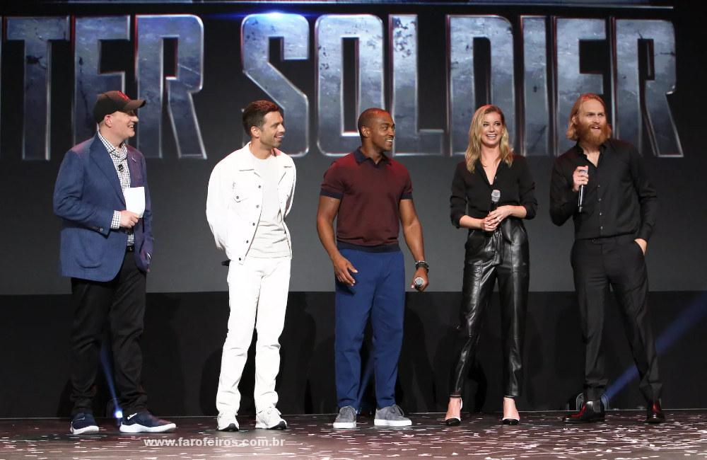Novidades das séries da Marvel Studios na D23 Expo 2019 - Elenco de Falcão e Soldado Invernal - Blog Farofeiros