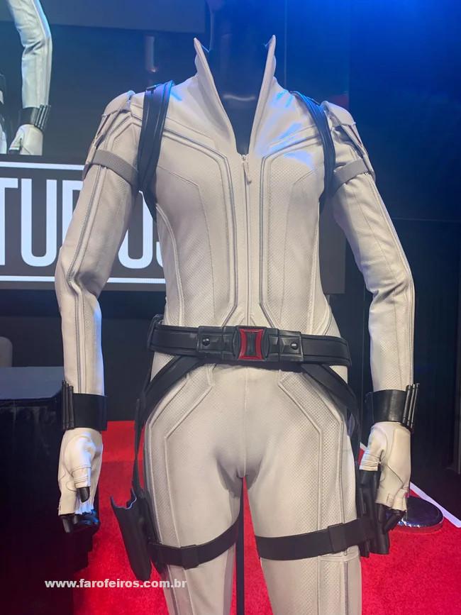 Viúva Negra - Uniforme Branco - Novidades dos filmes da Marvel Studios na D23 Expo 2019 - Blog Farofeiros