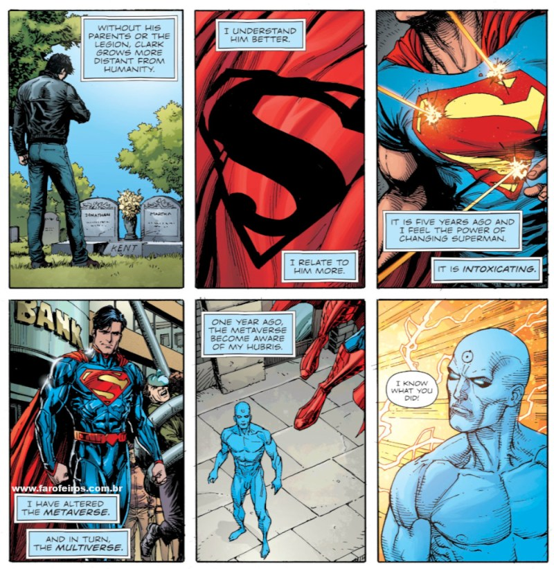 Superman - Relógio do Juízo Final - Novos 52 foi culpa do Dr Manhathan - Doomsday Clock - Blog Farofeiros