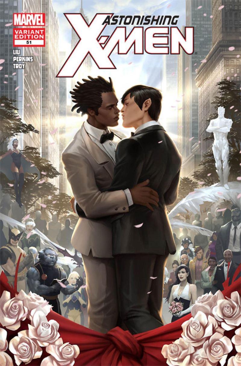 Casamento Estrela Polar 3 - X-Men - Marvel Comics - Beijo gay nas histórias em quadrinhos - Blog Farofeiros