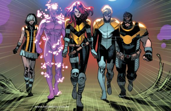 Os CINCO - GoldBall - Tempus - Proteus - Hope - Elixir - X-Men - Deu tudo certo em House of X #5 - Marvel Comics - Blog Farofeiros