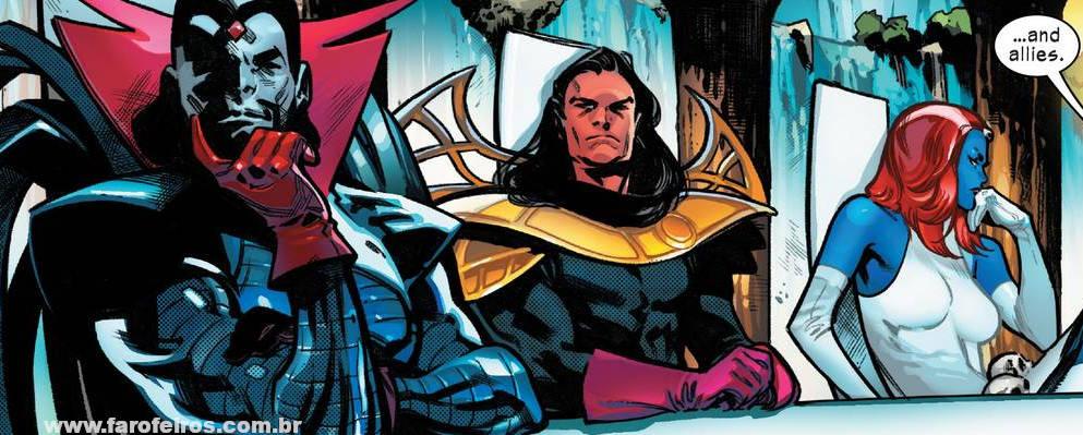 Senhor Sinistro - Exôdos - Mística - X-Men - O Conselho de Krakoa - Blog Farofeiros