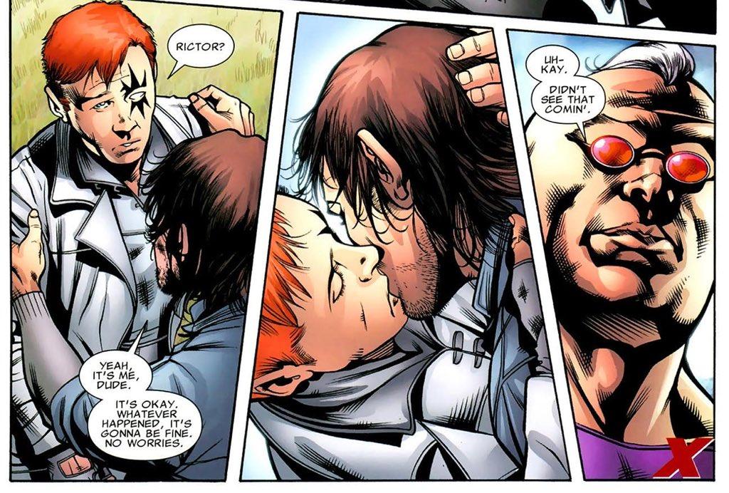 Shatterstar e Rictor 1 - X-Force - Marvel Comics - Beijo gay nas histórias em quadrinhos - Blog Farofeiros