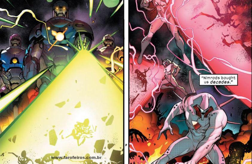 Sentinelas e Nimrod - Homo Novissima - Powers of X - Poderes dos X - X-Men - Marvel Comics - Blog Farofeiros