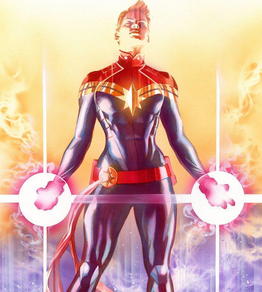 A arte de Alex Ross - Capitã Marvel - Blog Farofeiros