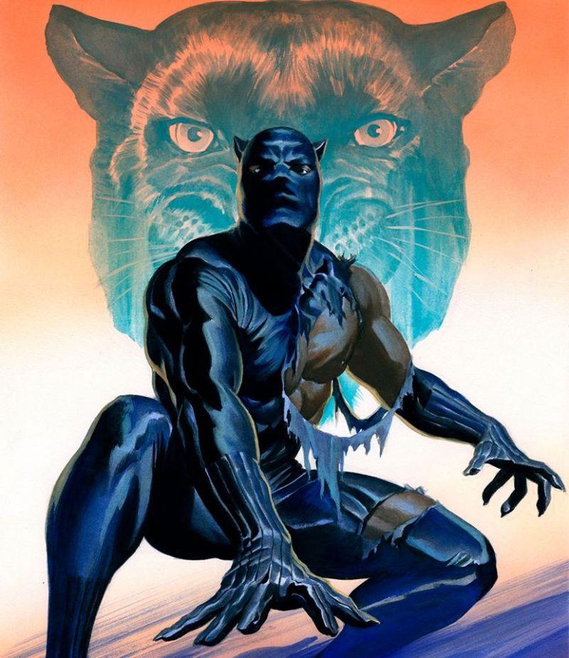 A arte de Alex Ross - Pantera Negra - Blog Farofeiros