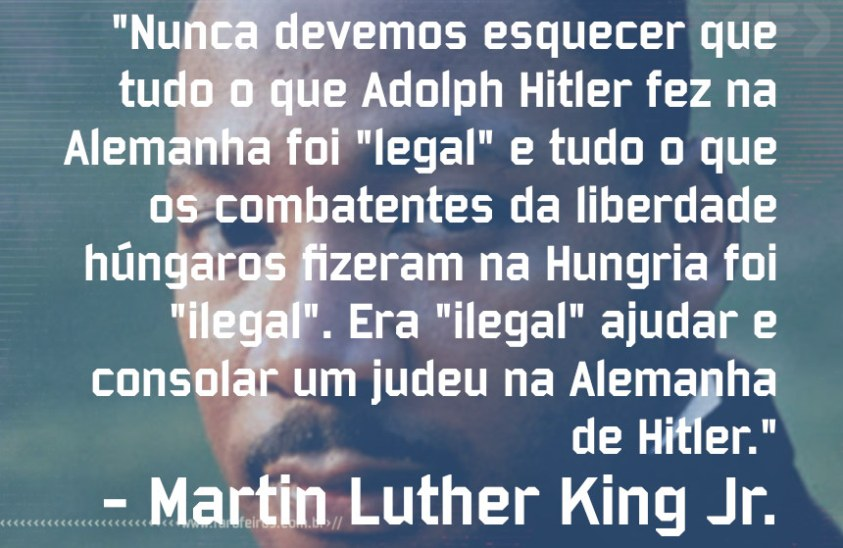 Pensamento - Martin Luther King Jr