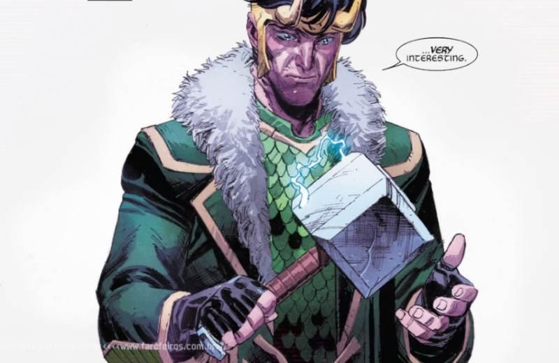 Thor com problemas para manter o martelo em pé - Hammerfall - Loki - Blog Farofeiros