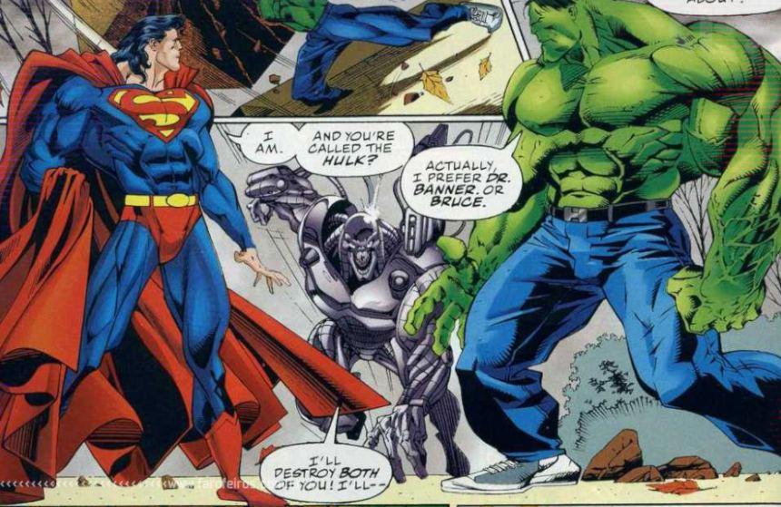Marvel Vs DC - Final alternativo de Hulk Vs Superman - Blog Farofeiros