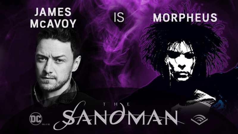 James McAvoy - Morpheus - Sandman em audiobook - Blog Farofeiros
