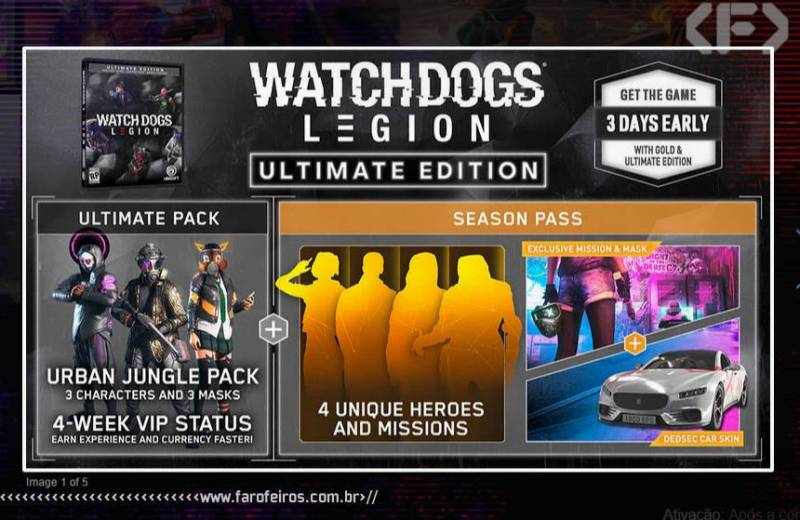 Watch Dogs Legion - Ultimate Edition - Ultimate Pack - Ubisoft Forward 2020 - Blog Farofeiros