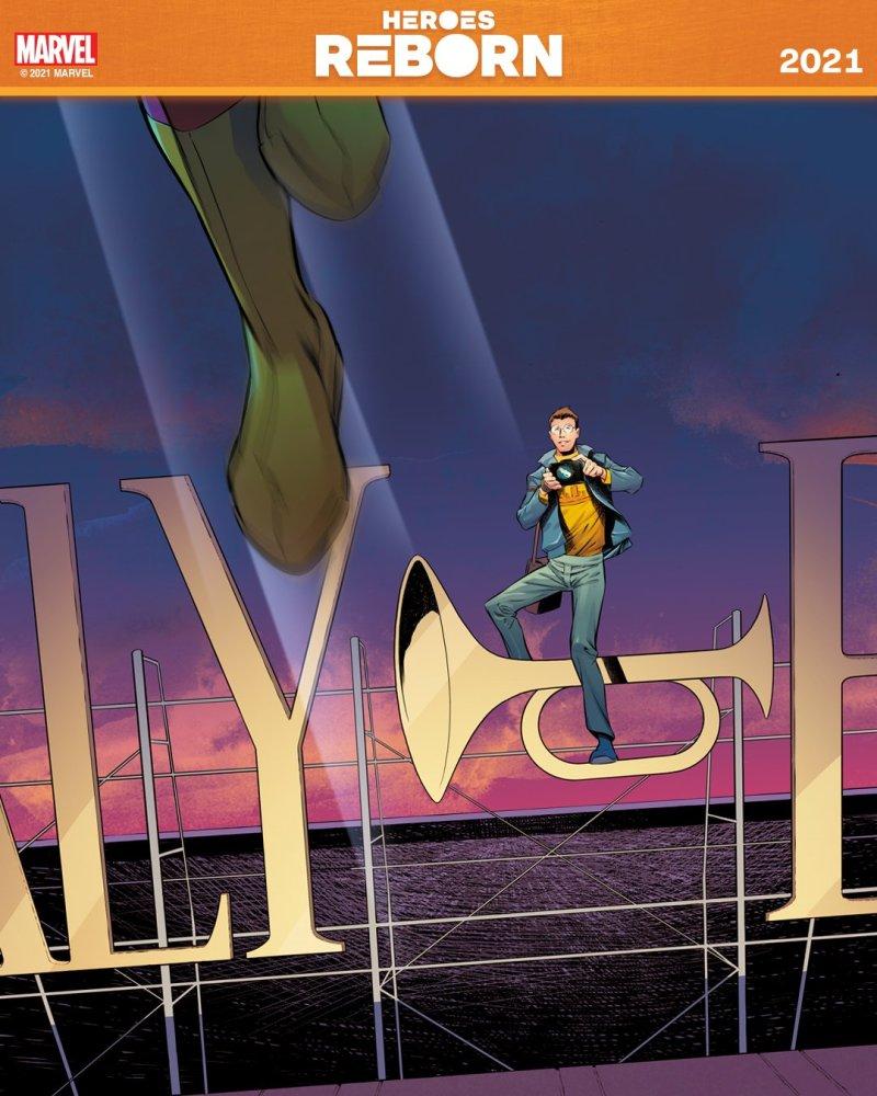 Peter Parker - Heroes Reborn 2021 - Heróis Renascem de novo em 2021 - Blog Farofeiros