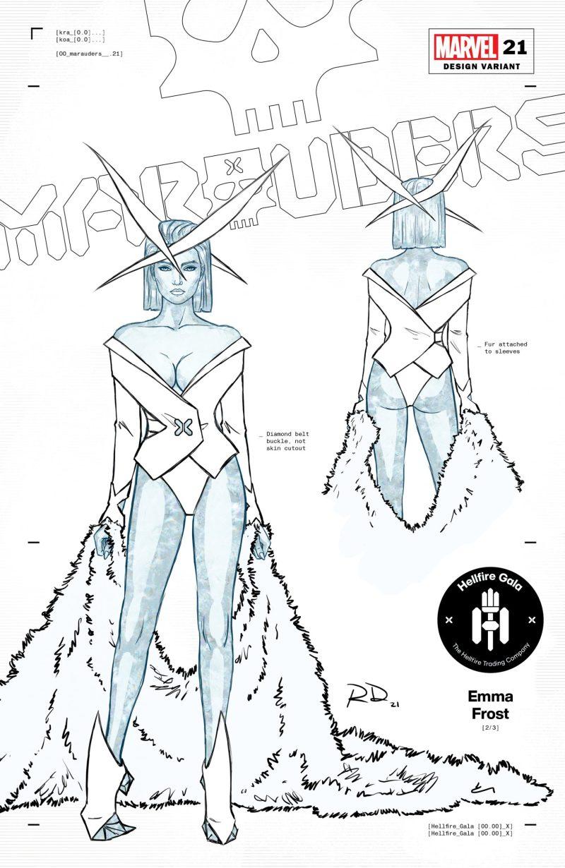 Rainha Branca - 2 - Russell Dauterman - Hellfire Gala - A noite de Gala do Clube do Inferno em X-Men - Blog Farofeiros